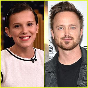 aaron paul interviews millie bobby brown aaron paul photos news and videos just jared jr