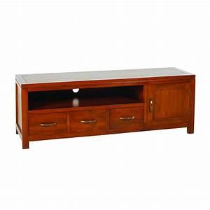 meuble tv style campagne 10 meuble 3 tiroirs tv bas With meuble tv style campagne