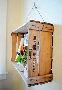 Caisse Bois Vin : diy recycler une caisse en bois deco en 40 id es ~ Carolinahurricanesstore.com Idées de Décoration