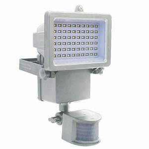 Projecteur à Détection : projecteur d tection solaire 1000 lm blanc chromex ~ Edinachiropracticcenter.com Idées de Décoration