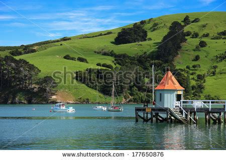 Wellington Harbour Boat Fishing Spots by Fishing Boats Of New Zealand Stock Images Royalty Free
