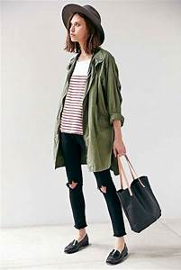 Picture Of Green Army Jacket Outfits For Stylish Girls 5