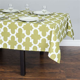 60 x 84 in. Trellis Rectangular Cotton Tablecloth Olive