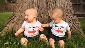 Boy/Girl Twins' First Year in Video - YouTube