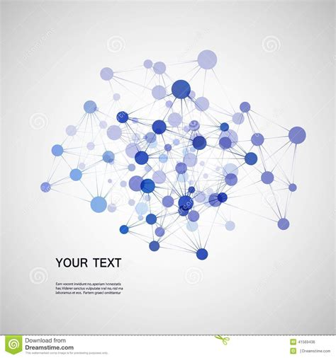 vector network connection  dna eps stock vector