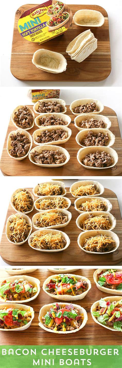 Prawn Taco Boats by Bacon Cheeseburger Mini Taco Boats Recipe