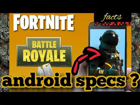 fortnite mobile android specs  compatible devices