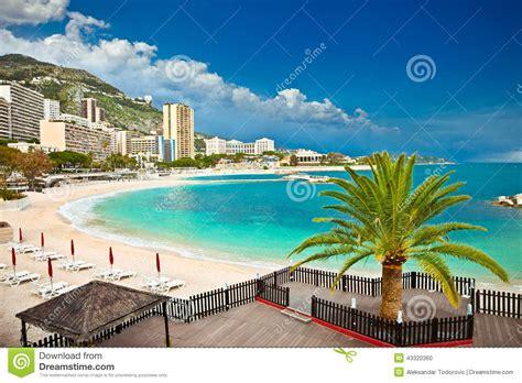 monaco strand hotel belles plages de monte carlo monaco photo stock image du construction caract 233 ristique 43320360