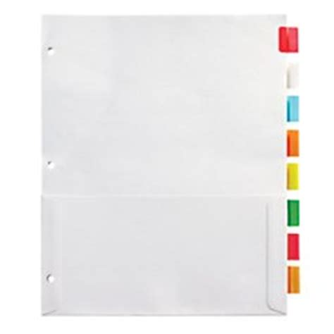 Office Depot Divider Templates by Office Depot Insertable Pocket Dividers With