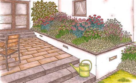 Garten Gestalten Hauswand by Terrassenbeet Zum Nachpflanzen Blumenbeet Garden