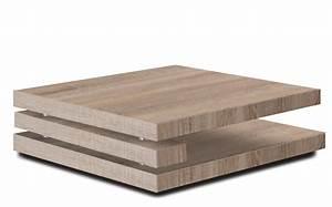 Table Basse Carrée : table basse carr e couleur ch ne clair design flapy ~ Teatrodelosmanantiales.com Idées de Décoration