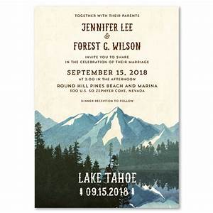 lake tahoe wedding invitations on vintage 100 recycled With electronic wedding invitations australia