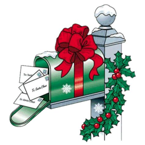 mailbox ribbon card exchange merry christmas animation