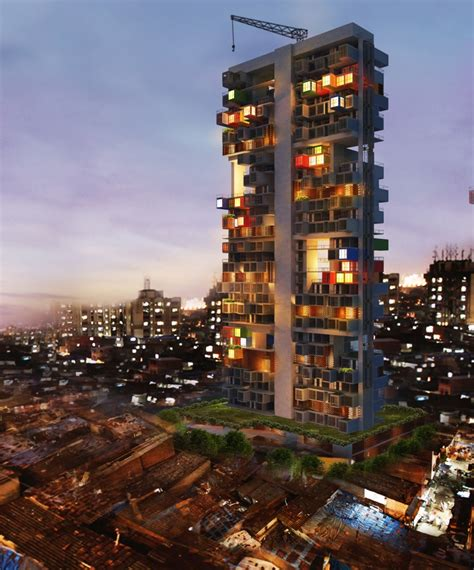 Home Interior Stores - shipping containers as housing solution in dharavi slum ganti associates arch2o com