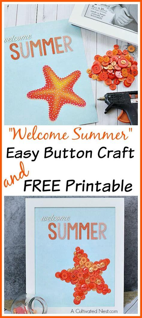 easy summer button craft  printable crafts button
