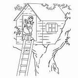 Stilt Coloring Tree Printable Drawing sketch template