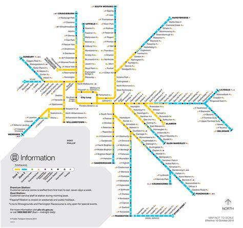 melbournes future train maps compared   york london