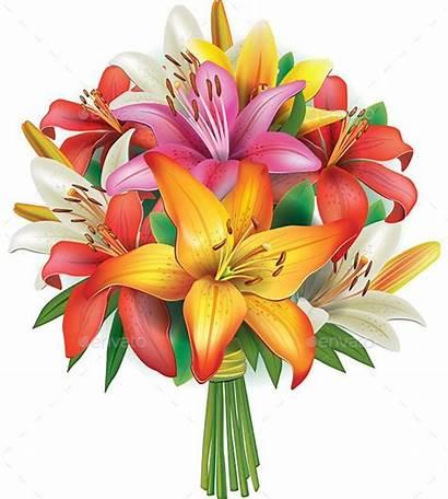 Bouquet Lilies Flowers Flower Clip Lily Graphicriver