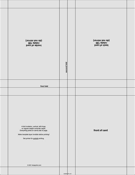 foldable card template word template updatecom