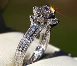 original wedding rings gorgeous unique flower engagement ring 2 00 carat 14k white gold wedding
