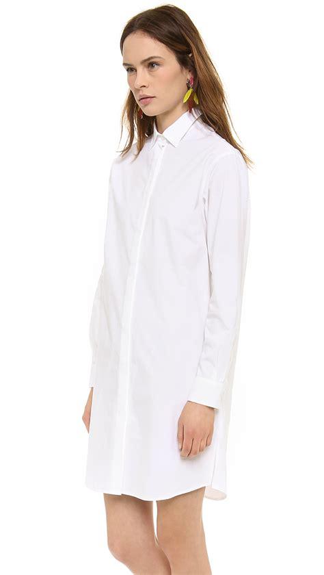 msgm button  dress  white lyst