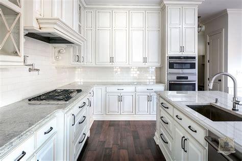 wallpaper backsplash kitchen glazed cabinets transitional kitchen stonecroft homes