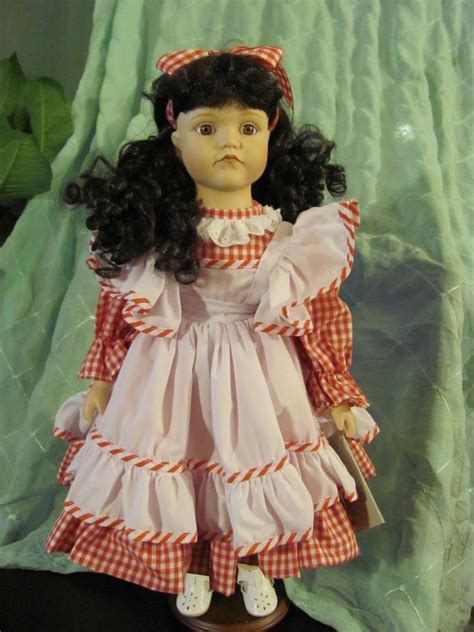 doll collectors 17 quot porcelain doll regency dolls collectors series anna 18105 with stand ebay