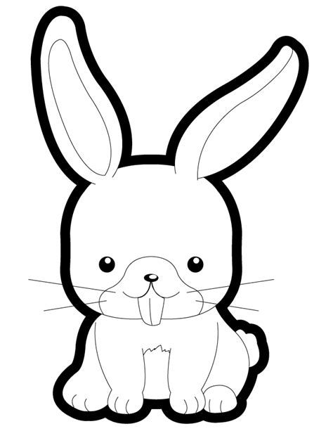 Cute Cartoon Bunny Coloring Pages