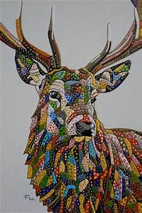 Abstract Deer 5 (Sculptural) by Paula Horsley. Painting ...