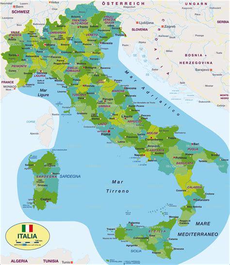 karte von italien politisch land staat welt atlasde
