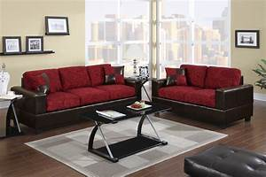 Modern red floral fabric sofa couch loveseat living room for Modern red fabric sectional sofa