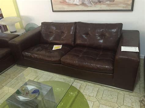 divano cuoio divano marzi in pelle cuoio sottocosto divani a prezzi
