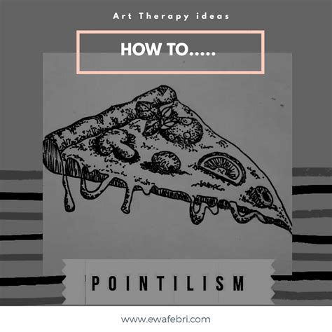 art therapi ideas teknik gambar pointillisme ewafebri