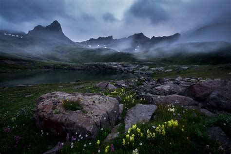 twilight fades san juan national forest colorado usa