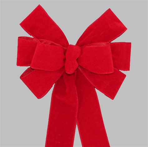 red weatherproof wire edge christmas bow outdoor wreath bow