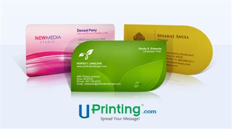 giveaway  die cut  business cards diane