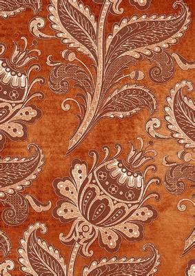 burnt orange floral wallpaper  backing paper cup