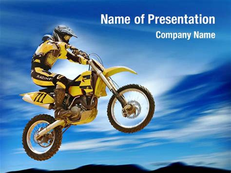 Motorcycle Sport Powerpoint Templates
