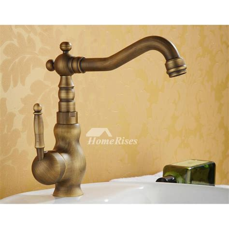 brushed gold bathroom faucet gold bathroom faucet brushed antique brass rotatable