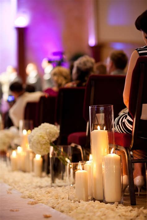 best 25 wedding aisle candles ideas on winter