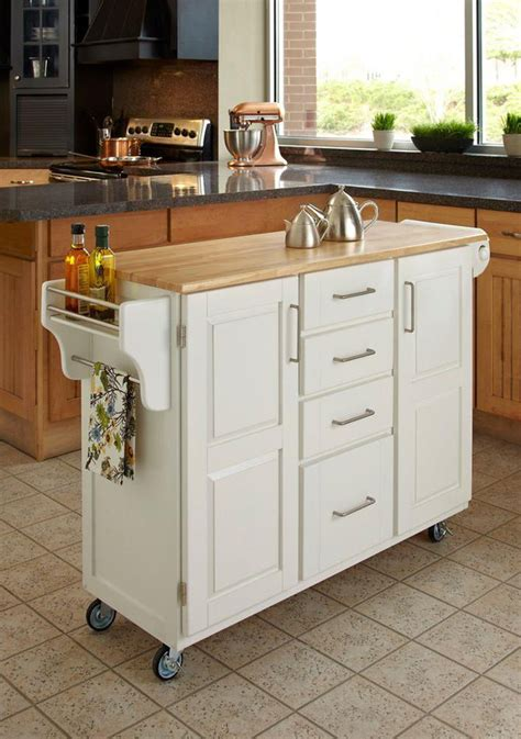 kitchen mobile island home styles create a cart white kitchen cart with