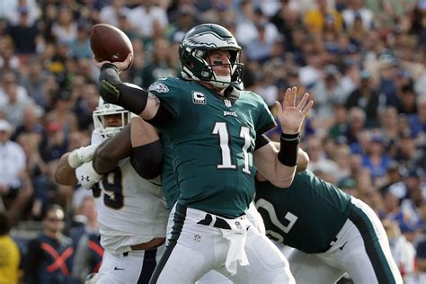 philadelphia eagles comparing carson wentz   time