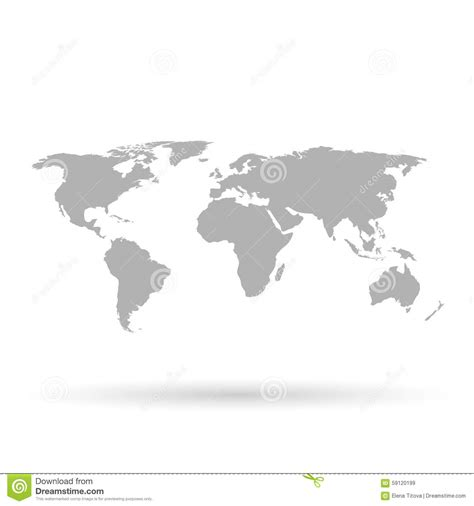 Carte Vectorielle Monde Powerpoint by Gray World Map On White Background Stock Vector
