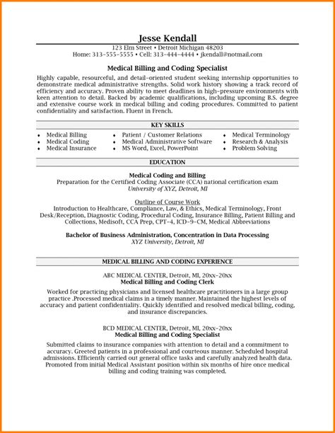Employment Specialist Resumes Exles by 7 Billing Specialist Description Resume Simple Bill