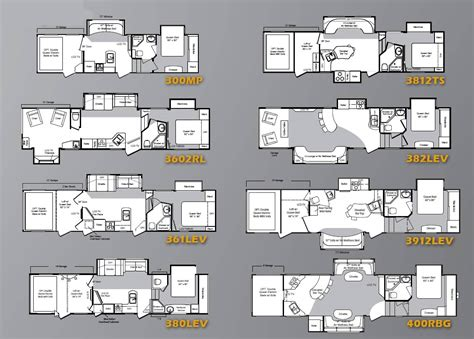 raptor 5th wheel hauler floor plans keystone rv travel trailers haulers and fifth wheels