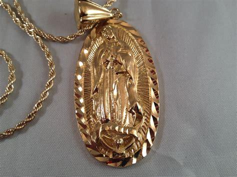 virgen de guadalupe cadena medalla oro  sinaloense  lady