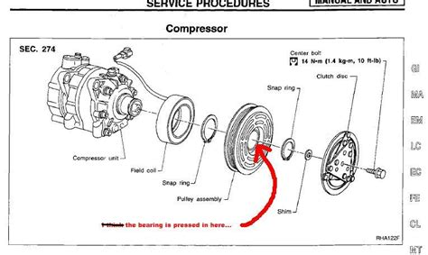 Compressor Clutch Bearing Both Ford Truck