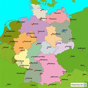 Schönsten Städte Deutschland : stepmap deutschland wichtigste st dte landkarte f r deutschland ~ Frokenaadalensverden.com Haus und Dekorationen