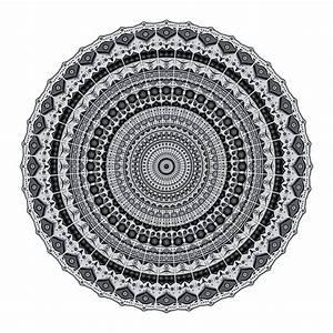 Tapis Rond Mandala : acheter podevache tapis de sol en vinyle rond mandala gris blanc amara ~ Teatrodelosmanantiales.com Idées de Décoration