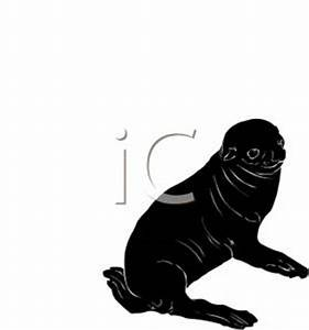 A Silhouette of Baby Sea Lion   Clipart Panda - Free ...
